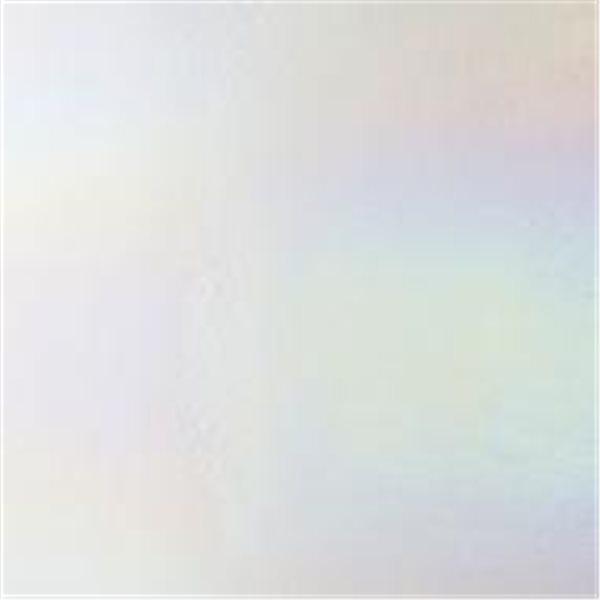 Bullseye White - Opaleszent - Rainbow Irid - 3mm - Fusing Glas Tafeln