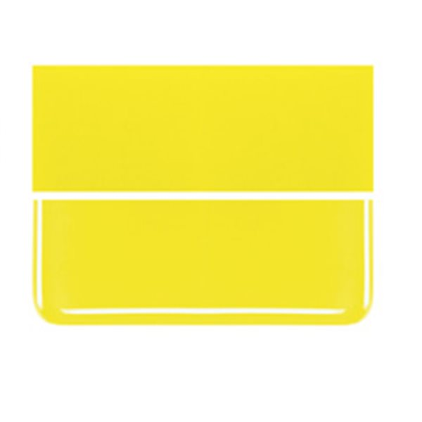 Bullseye Canary Yellow - Opaleszent - 2mm - Thin Rolled - Fusing Glas Tafeln