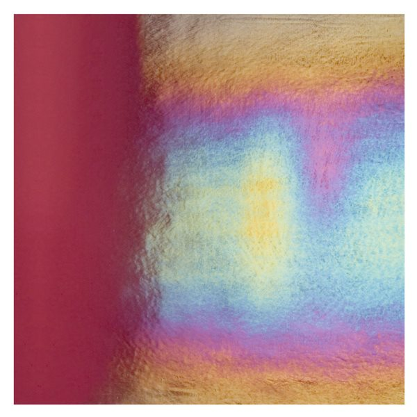 Bullseye Deep Plum - Transparent - Rainbow Irid - 3mm - Fusing Glas Tafeln