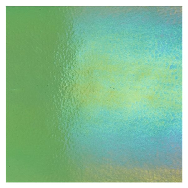 Bullseye Light Green - Transparent - Rainbow Irid - 3mm - Fusing Glas Tafeln