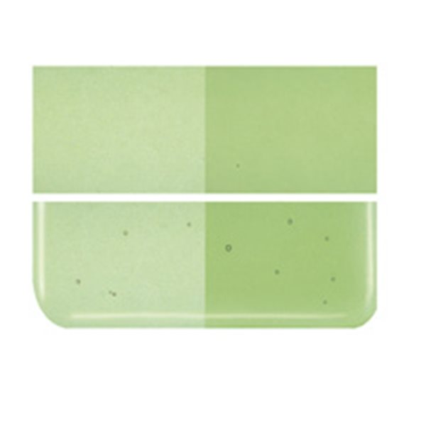 Bullseye Light Green - Transparent - 2mm - Thin Rolled - Fusing Glas Tafeln