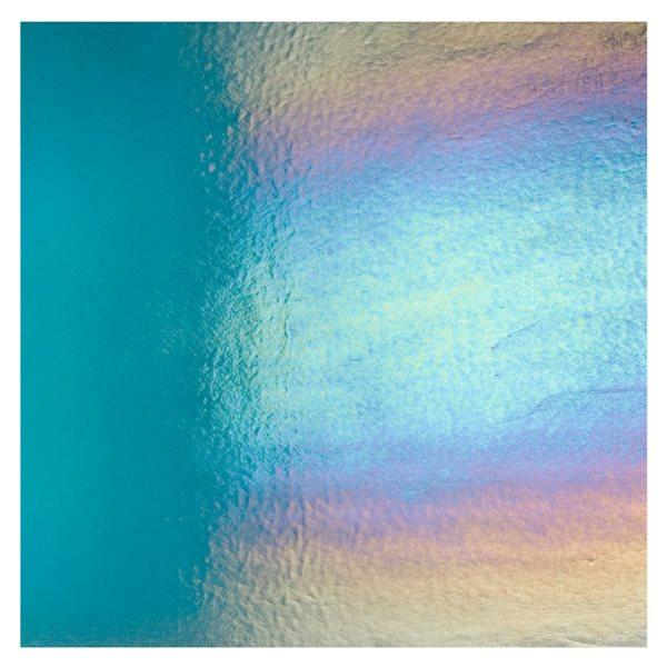 Bullseye Aquamarine Blue - Transparent - Rainbow Irid - 3mm - Fusing Glas Tafeln