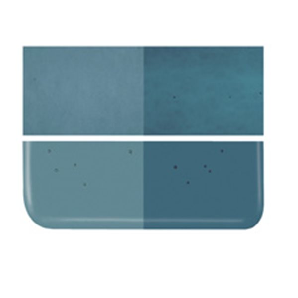 Bullseye Aquamarine Blue - Transparent - 2mm - Thin Rolled - Fusing Glas Tafeln