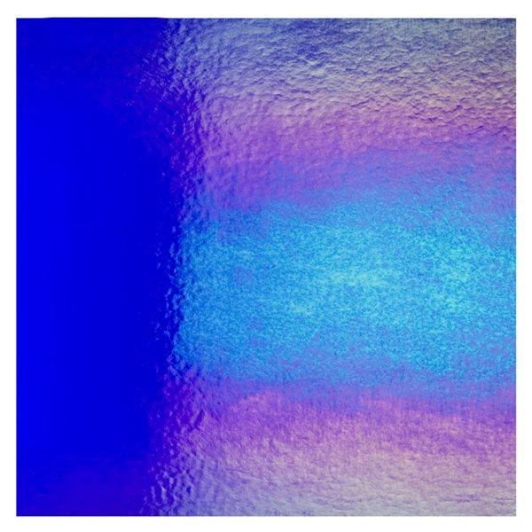 Bullseye Deep Royal Blue - Transparent - Rainbow Irid - 3mm - Fusing Glas Tafeln