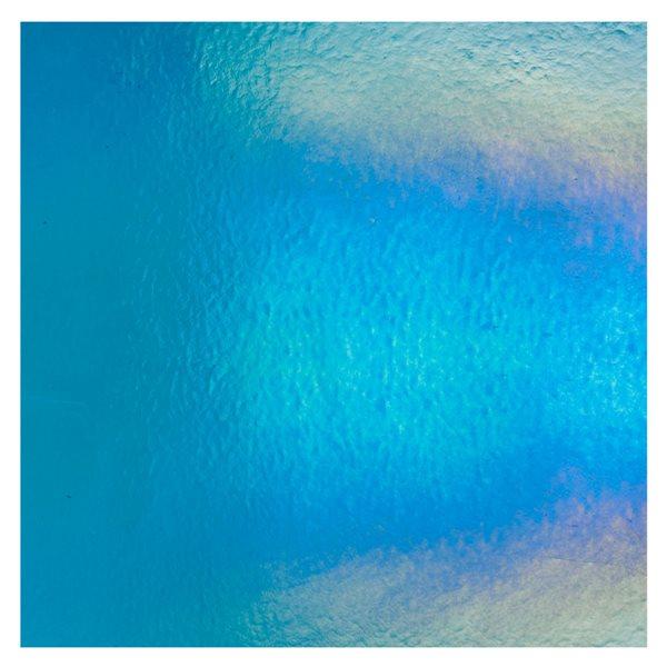 Bullseye Turquoise Blue - Transparent - Rainbow Irid - 3mm - Fusing Glas Tafeln