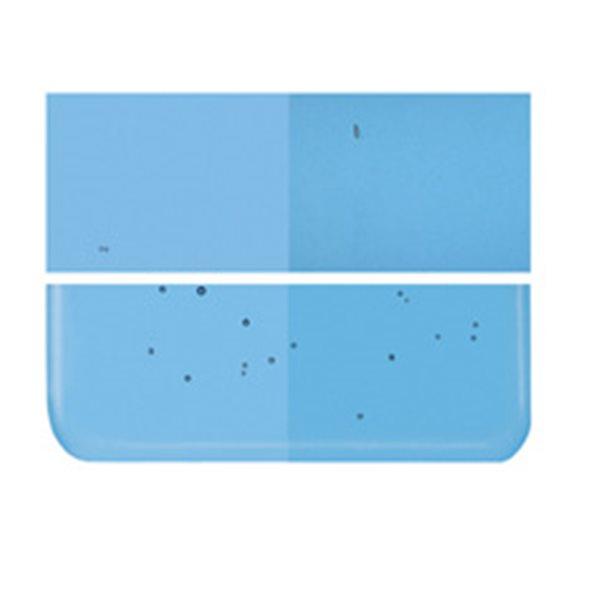 Bullseye Turquoise Blue - Transparent - 2mm - Thin Rolled - Fusing Glas Tafeln