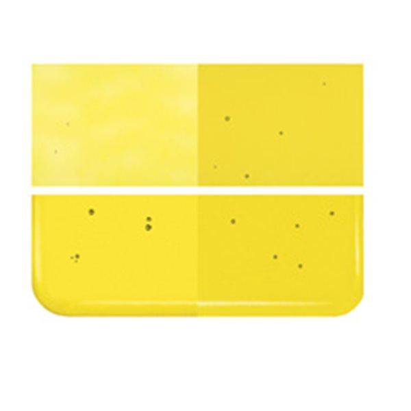Bullseye Yellow - Transparent - 2mm - Thin Rolled - Fusing Glas Tafeln