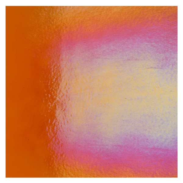 Bullseye Orange - Transparent - Rainbow Irid - 3mm - Fusing Glas Tafeln