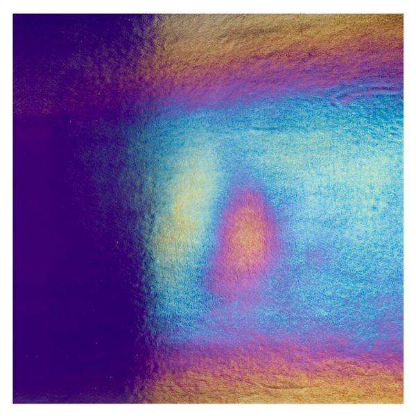 Bullseye Deep Royal Purple - Transparent - Rainbow Irid - 3mm - Fusing Glas Tafeln
