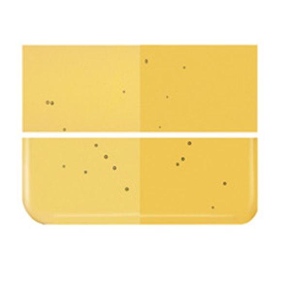 Bullseye Medium Amber - Transparent - 3mm - Fusing Glas Tafeln