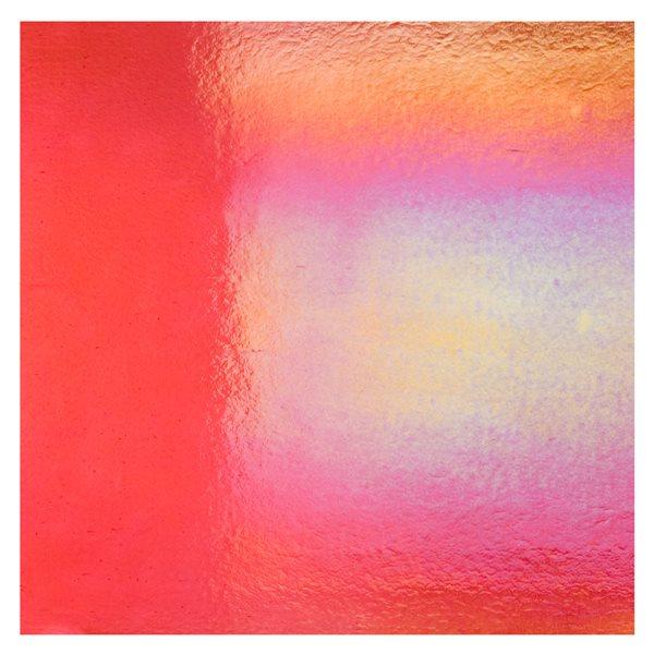 Bullseye Cranberry Pink - Transparent - Rainbow Irid - 3mm - Fusing Glas Tafeln