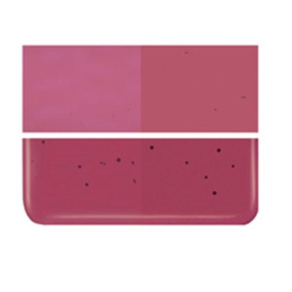 Bullseye Cranberry Pink - Transparent - 2mm - Thin Rolled - Fusing Glas Tafeln