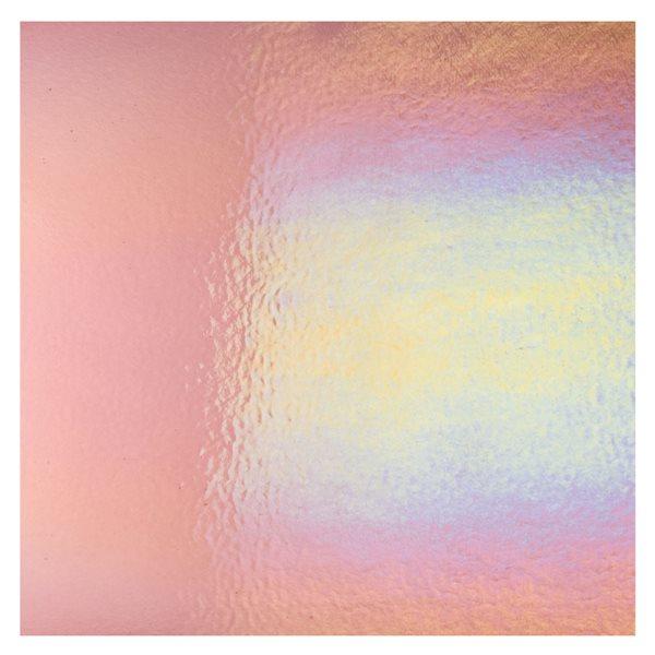 Bullseye Light Plum - Transparent - Rainbow Irid - 3mm - Fusing Glas Tafeln