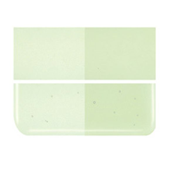 Bullseye Pale Green - Transparent - 3mm - Fusing Glas Tafeln