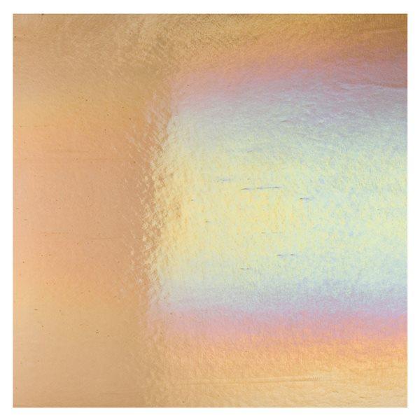 Bullseye Light Bronze - Transparent - Rainbow Irid - 3mm - Fusing Glas Tafeln