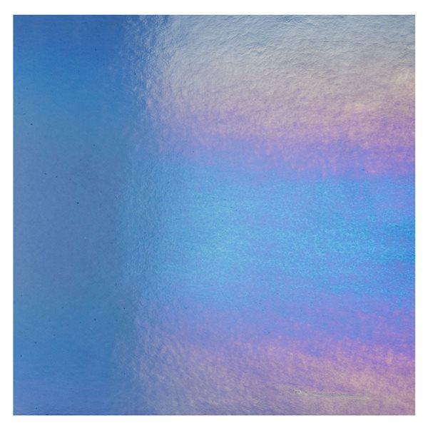 Bullseye Light Sky Blue - Transparent - Rainbow Irid - 3mm - Fusing Glas Tafeln