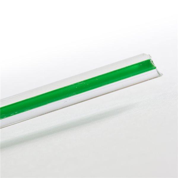 Effetre Murano Stange - Filigrana Verde - 5-6mm
