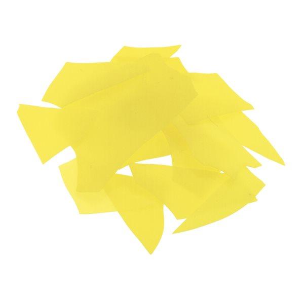 Bullseye Confetti - Canary Yellow - 50g - Opaleszent