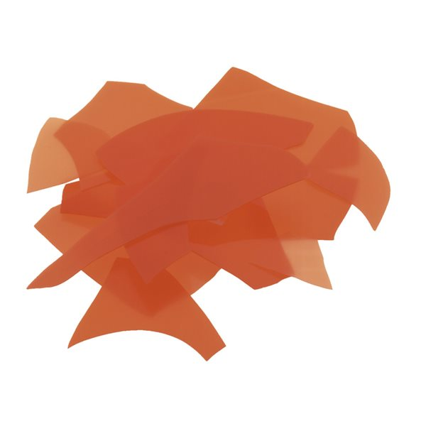 Bullseye Confetti - Orange - 50g - Opaleszent
