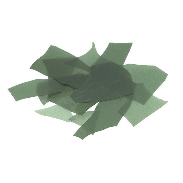 Bullseye Confetti - Aventurine Green - 50g - Transparent