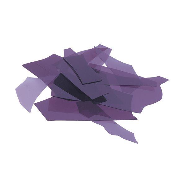 Bullseye Confetti - Deep Royal Purple - 50g - Transparent