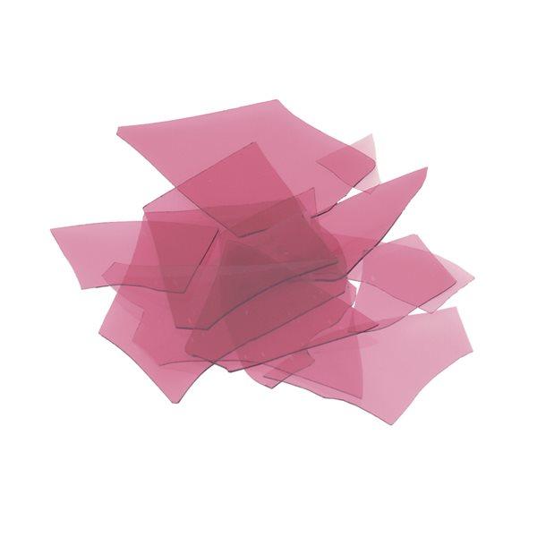 Bullseye Confetti - Cranberry Pink - 50g - Transparent