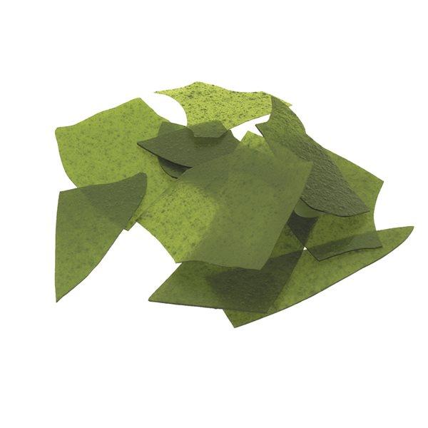 Bullseye Confetti - Light Aventurine Green - 50g - Transparent