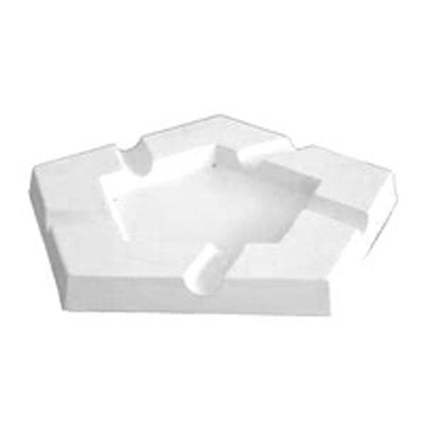 Ashtray - Penta - 25x25x2.5cm - Basis: 14.4x14.4cm - Fusing Form