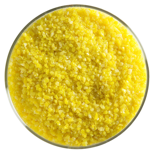 Bullseye Frit - Sunflower Yellow - Mittel - 450g - Opaleszent