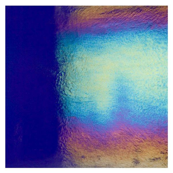 Bullseye Midnight Blue - Transparent - Rainbow Irid - 3mm - Fusing Glas Tafeln