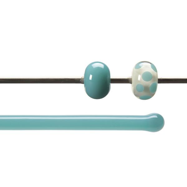Bullseye Stange - Turquoise Blue - 4-6mm - Opaleszent