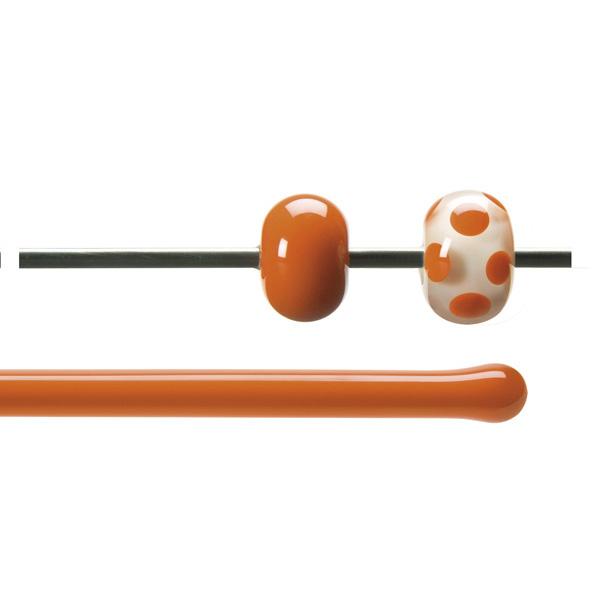 Bullseye Stange - Orange - 4-6mm - Opaleszent