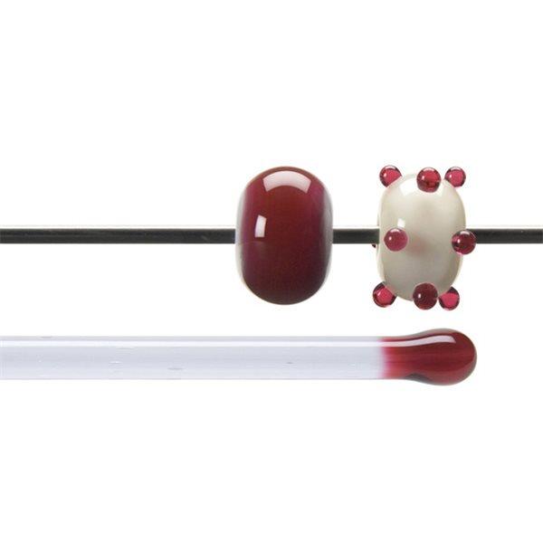 Bullseye Stange - Cranberry Pink - 4-6mm - Transparent