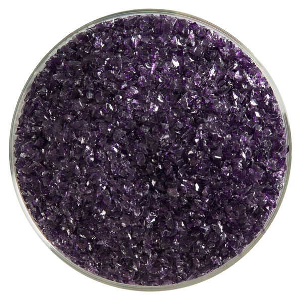 Bullseye Frit - Deep Royal Purple - Mittel - 450g - Transparent