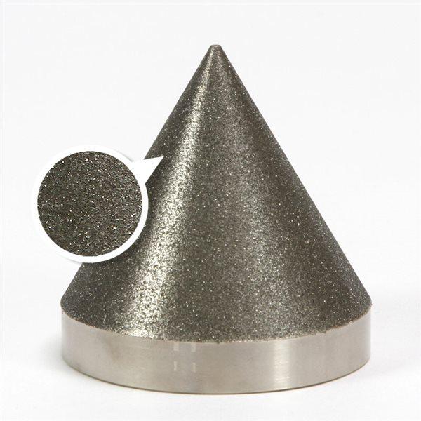 """Diamond Cone - 100 grit - 3x3"""" (76x76mm) - 60°"""