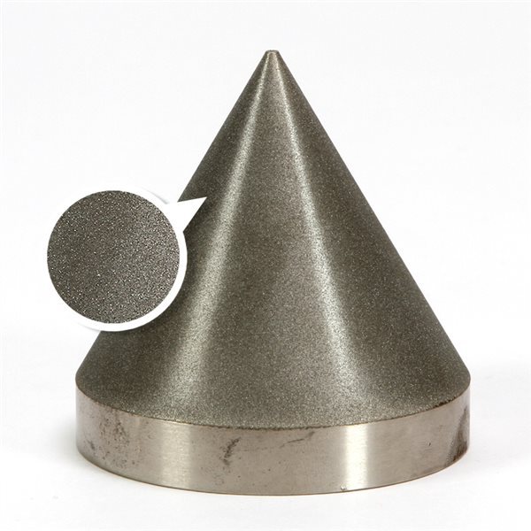 "Diamond Cone - 360 grit - 3x3"" (76x76mm) - 60°"