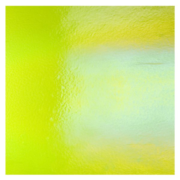 Bullseye Spring Green - Transparent - Rainbow Irid - 3mm - Fusing Glas Tafeln