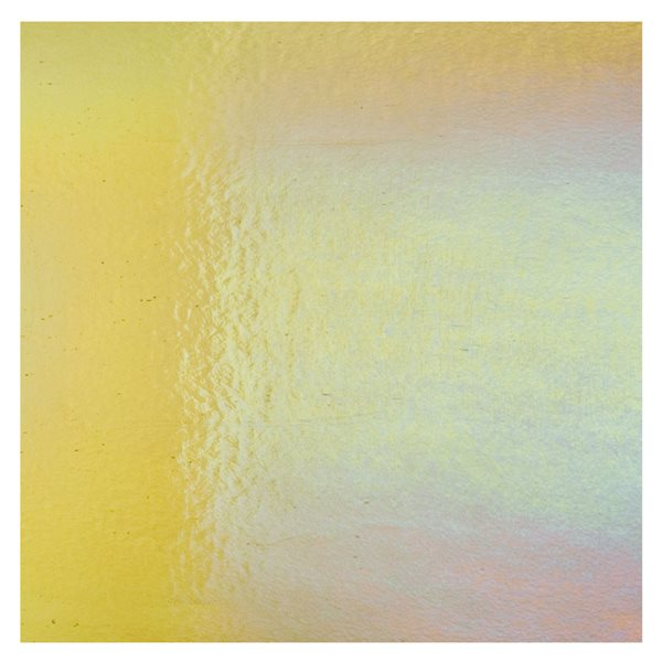 Bullseye Light Amber - Transparent - Rainbow Irid - 3mm - Fusing Glas Tafeln