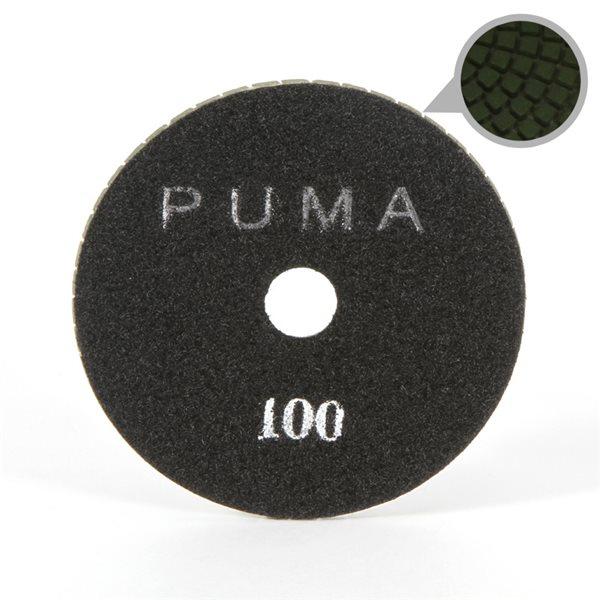 Smoothing Pad Diamond Resin - 100mm - 100 grit - Black