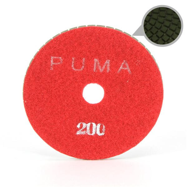 Smoothing Pad Diamond Resin - 100mm - 200 grit - Red
