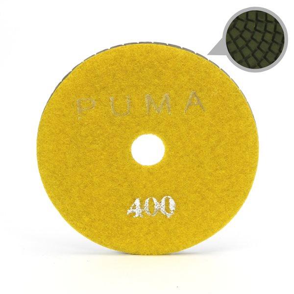 Smoothing Pad Diamond Resin - 100mm - 400 grit - Yellow