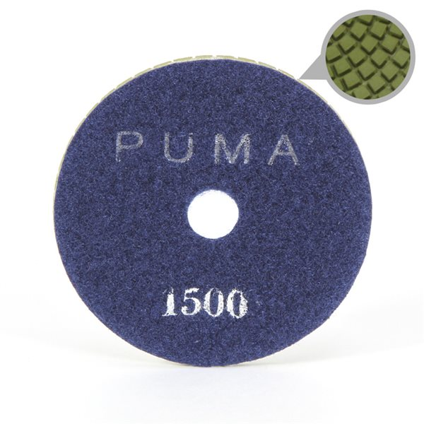 Smoothing Pad Diamond Resin - 100mm - 1500 grit - Blue