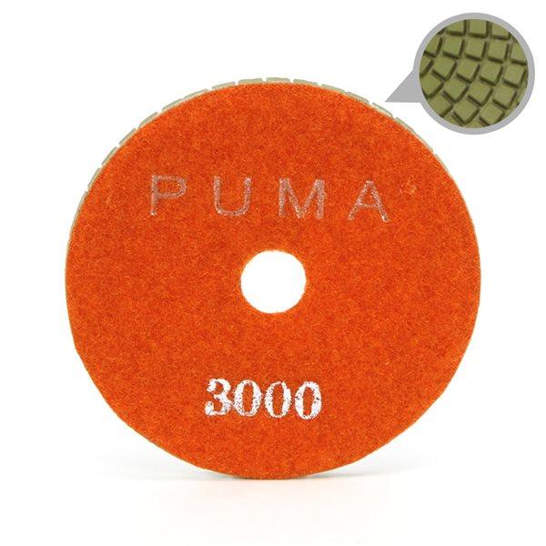 Smoothing Pad Diamond Resin - 100mm - 3000 grit - Orange