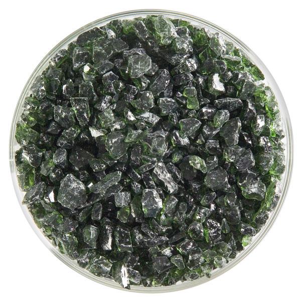 Bullseye Frit - Olive Green - Grob - 450g - Transparent