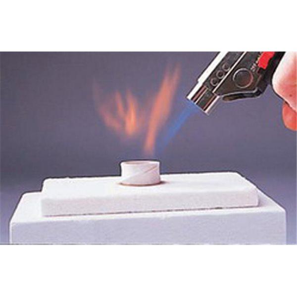Feuerfeste Unterlage für Gasbrenner