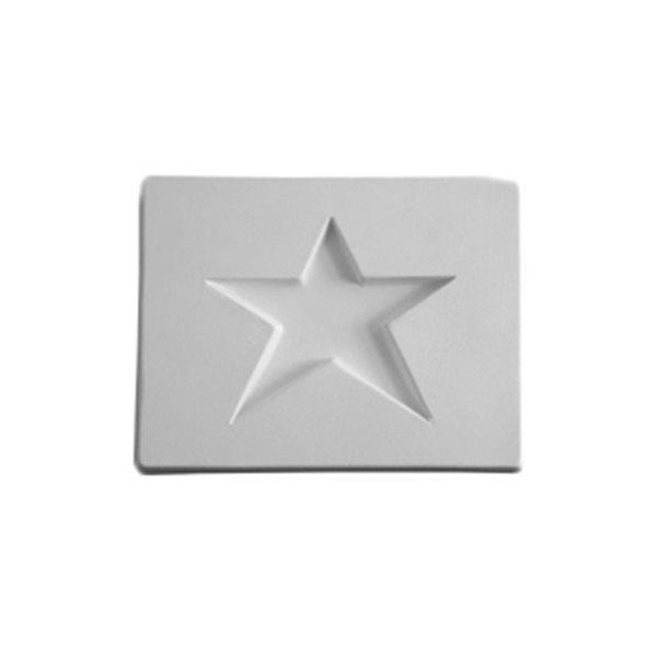 Star - 10.7x8.2x1.3cm - Öffnung: 6.3x6.8cm - Fusing Form