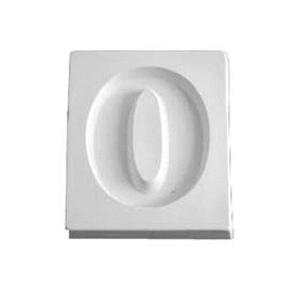 Number 0 - 12.2x10.3x1.9cm - Ouverture: 9.5x7.5cm - Moule pour Fusing
