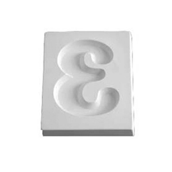 Number 3 - 12.1x10.2x1.9cm - Öffnung: 9.4x7.2cm - Fusing Form