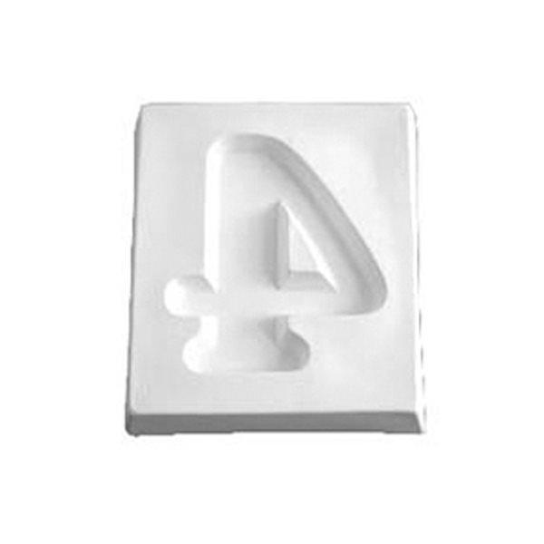 Number 4 - 12.1x10.3x1.9cm - Ouverture: 9x7.5cm - Moule pour Fusing