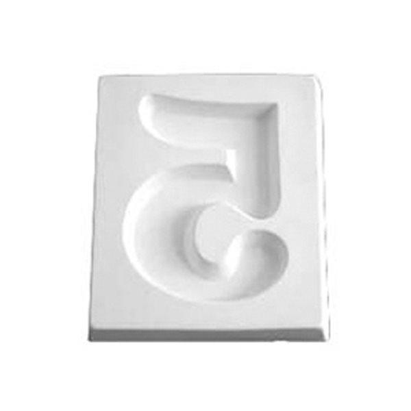 Number 5 - 12.1x10.2x1.9cm - Ouverture: 6.4x7cm - Moule pour Fusing